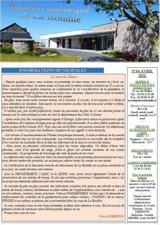 Bulletin d'avril 2021