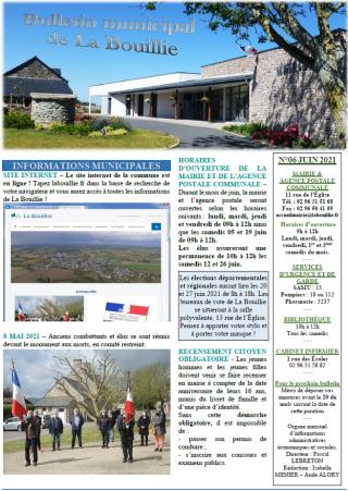 Bulletin de juin 2021