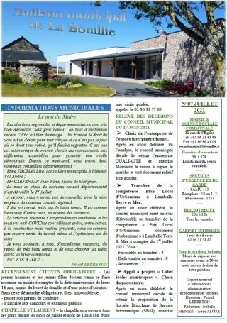 Bulletin de juillet 2021