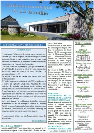 Bulletin de septembre 2021